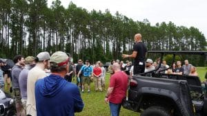 Rob Pincus speaks to competitors at the first annual Gun Makers Match